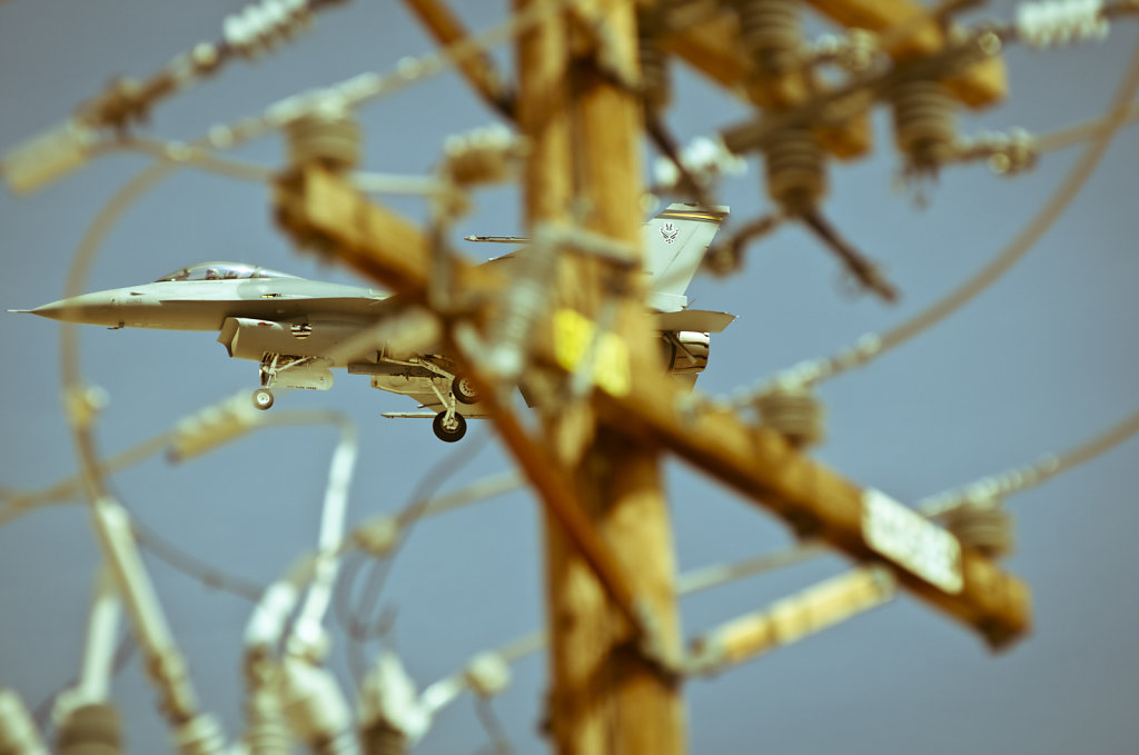 F-16 and Telphone Pole