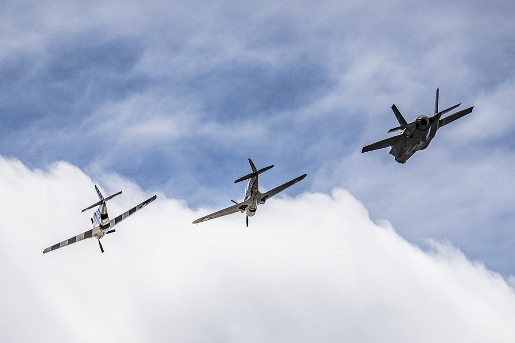 P-40, P-47 and F-35