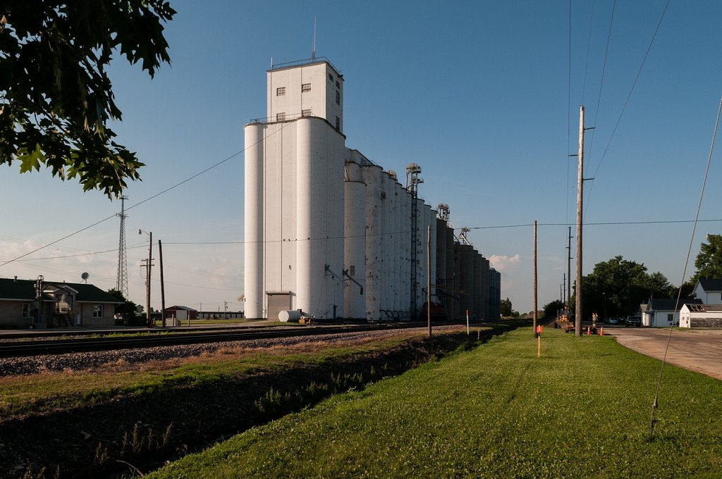 Traintrack and Silos Along Route 66